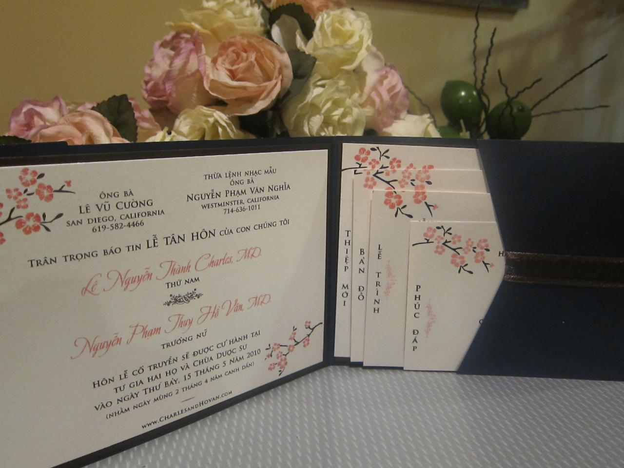 sh d6 - Vietnamese Wedding Invitation